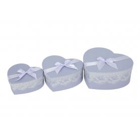 Papierowe pudełka Flowerbox Serce x3 150933