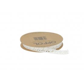 Taśma koronka 12mm/5m biała HSL2085 biała