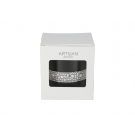 Świeca Crystal glass woskowa 9288-pearl czarny