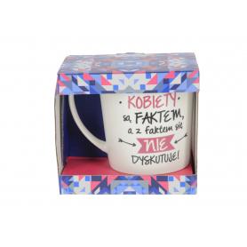 Ceramiczny kubek CRAZY GIRL 480ml matowy 81606-4