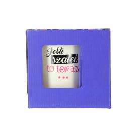 Ceramiczny kubek CRAZY GIRL 480ml matowy 81606-30