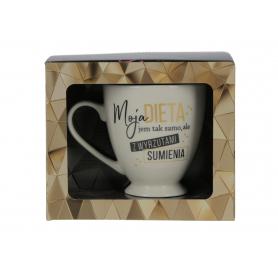 Ceramiczny kubek GLAMOUR  95238-3 Moja dieta, jem z wyrzutami sumienia