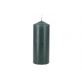 Świeca walec butelkowa zieleń SW60150-060