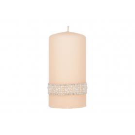 Świeca Crystal Perła walec średni 3362P-rose gold
