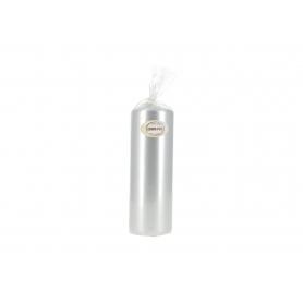 Świeca walec 70/200 klasyczna lakier   metalik srebrny błyszczący W70200MET-L2