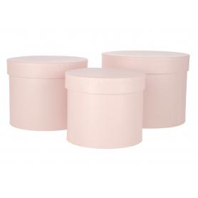Flowerbox pudełko 3szt/kpl  róż 1713róż