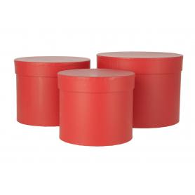 Flowerbox pudełko 3szt/kpl czerwony 1713czerwony