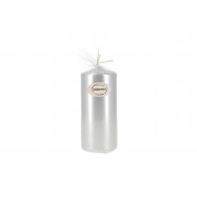 Świeca walec 70/150 lakier metalik srebr błyszczący W70150MET-L2