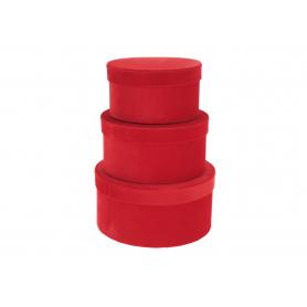 Welurowy niski FLOWER BOX 3w1  FB1101-red