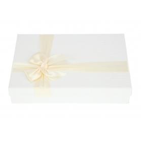 Papier- FLOWER BOX pudełko niskie FB1026-white