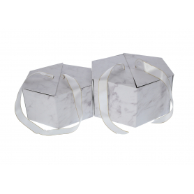 Papierowe pudełko, otwierane 2w1 white 26,8x23,5x13, 23,5x20,2x11cm, pakowanie: 1/24 sets FB1088-white