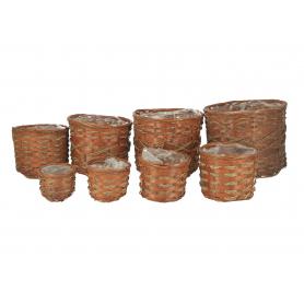Osłonka bambusowa komplet 8 szt
