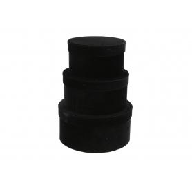 Welurowy niski FLOWER BOX 3w1 FB1101 black
