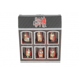Szkło zestaw 6 kieliszków RED LIGHT RL11-kobiety