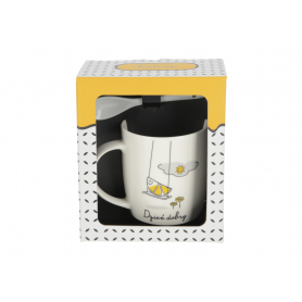 Ceramika kubek z łyżeczką TEATIME 330ml 744171
