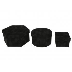 Papier FLOWER BOX welur 3 kształty FB1131-black