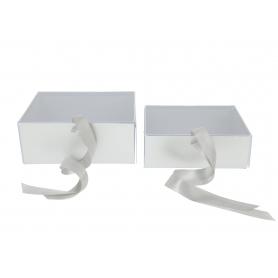 Papier metalic Flower box akrylowe wieczko FB1142-silver