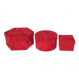 Papier FLOWER BOX welur 3 kształty FB1131-red