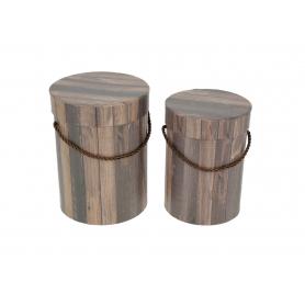Papier a`la drewniany FLOWER BOX 2w1 FB1138-brown