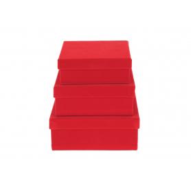 Welurowy flower box KWADRAT 3w1  FB1125-red