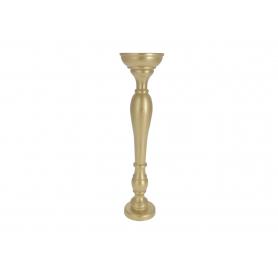 Drewniany świecznik METALLIC SWK1140-gold