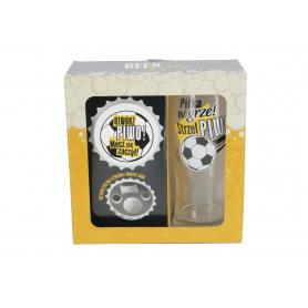 Szklanka do piwa i otwieracz z magnesem  BEER GIFTS 500ml 79320-2