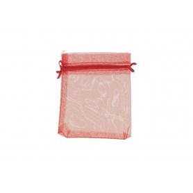 Woreczek organza 9x12 25szt/kpl HY3405-red