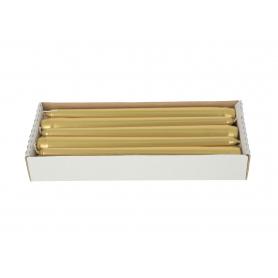 Świeca stożek 24 0241-złoto
