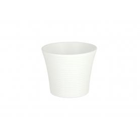 Ceramiczna doniczka Spiral White 40112 401/12
