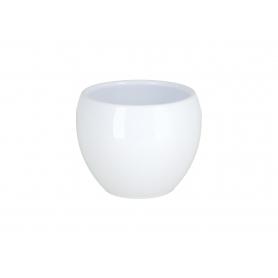 Ceramiczna doniczka kula white 10014 100/14