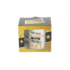 Ceramiczny kubek Mens World Gold 300ml 11605-rządzenie światem zaczynam