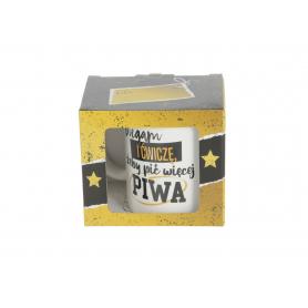 Ceramiczny kubek Mens World Gold 300ml 11601-biegam żeby móc wypić więcej piwa