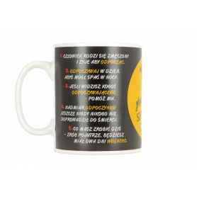 Ceramiczny kubek GIGANT 10 Przykazań 4237-10P 5907511304724