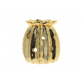 Ceramiczny kominek złoty 8,5x10cm 12305G