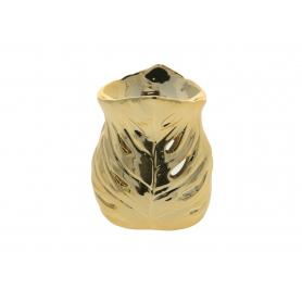 Ceramiczny kominek 9x8,5x12cm złoty 12304G
