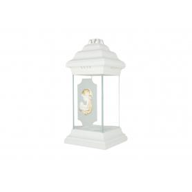 Znicz ROMA latarnia szklana biała nić ZLS1białanitka