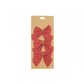 Bożonarodzeniowa kokarda dekoradyjna 3szt 76251