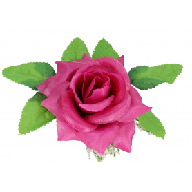 Róża z listkiem główka kwiatowa