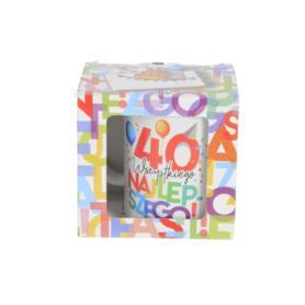Ceramika kubek URODZINOWE LITERKI 300ml 41880-40