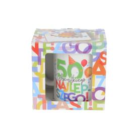 Ceramika kubek URODZINOWE LITERKI 300ml 41880-50