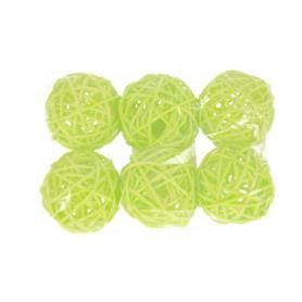 """Ratanowe kulki x6 """"5"""" 120015-zielony"""
