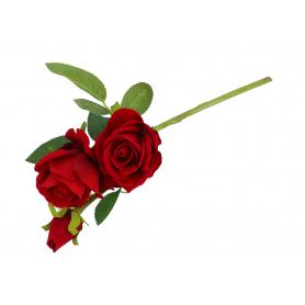 Róża welurowa 57251-red E68