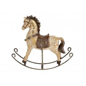 Bożonarodzeniowa figurka Koń na  biegunach