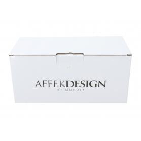 Ceramiczny kubek ze spodkiem 270ml Odette black 22x10,5cm HTPL5956