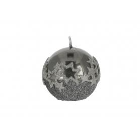 Świeca ICE STAR kula 8cm 30301-grafitowa
