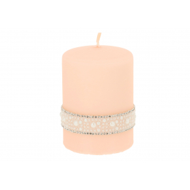 Świeca Crystal Perła walec mały 3356P-rose gold