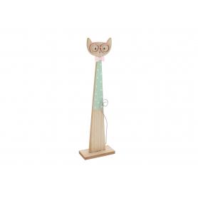 Stająca drewniana figura Kot HY3603