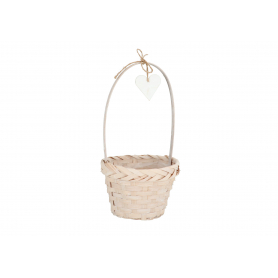 Koszyk Bambusowy biały 6350 KZB-161130B