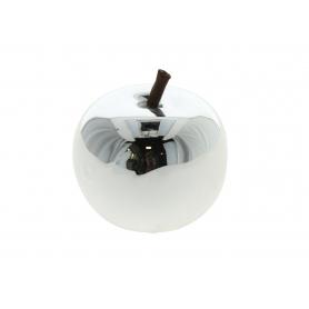Ceramiczne jabłko srebrne mini 34255