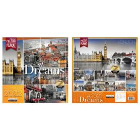 Kalendarz classic Q CITY OF DREAMS 74838